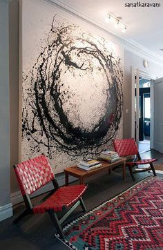 These wall art ideas to inspire you: wall art ideas for bedroom, diy large wall decor for living room, blank wall design, homemade wall decoration. Painting Inspiration, Diy Art, Amazing Art, Amazing Ideas, Art Projects, Abstract Art, Black Abstract, Abstract Portrait, Tattoo Abstract