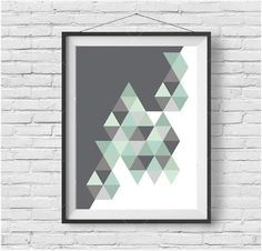 Mint Printable Art Mint Print Mint Poster Geometric Print