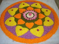 Beautiful Indian rangoli designs for Diwali form an important part of decorations. We have shortlisted some gorgeous Indian designs for you. Indian Rangoli Designs, Rangoli Designs Flower, Rangoli Patterns, Rangoli Designs With Dots, Flower Rangoli, Beautiful Rangoli Designs, Kolam Designs, Rangoli Ideas, Rangoli Photos