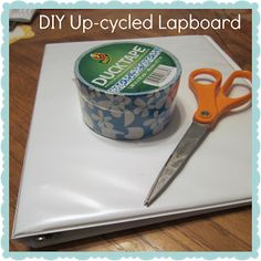 Classroom DIY: DIY Up-cycled Lapboards.. Could use this idea for O2 Business!!
