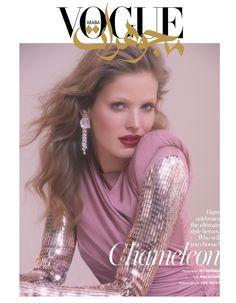Alisa Ahmann | Sequin & Metallic Fashion Editorial | Vogue Arabia