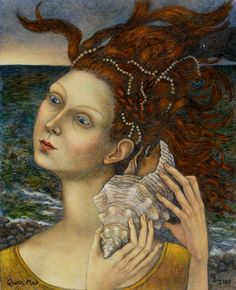 "Queen Mab, 2009, oil on masonite, 8"" x 10"" Paintings by Gina Litherland"