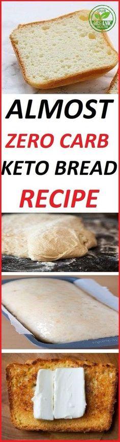 ALMOST ZERO CARB KETO BREAD RECIPE: 2.25carbs/slice 4gProtein/slice