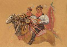 Joža Uprka: Vlčnov – Jízda králů  olej / 75 x 101 cm   cena: 420 000 Kč / Galerie Art Praha 20. 9. 2009