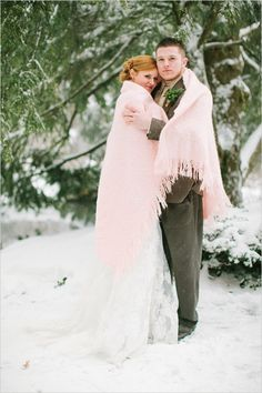 """Summer may be """"official"""" wedding season, but there's nothing like saying """"I do"""" in a winter wonderland."""