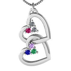 """Unity"" Interlocking Hearts Pendant #jewlr"