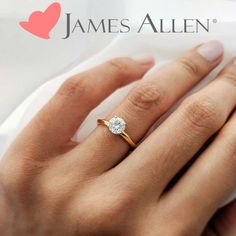Classic Knife-Edge Solitaire Engagement Ring in Yellow Gold (Setting Price) Engagement Rings Under 1000, Design Your Engagement Ring, Cute Engagement Rings, Most Popular Engagement Rings, Rose Gold Engagement Ring, Designer Engagement Rings, Solitaire Engagement, Classic Wedding Rings, James Allen