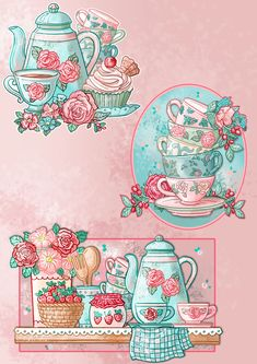 Decoupage Vintage, Decoupage Paper, Painting For Kids, Time Painting, Angel Drawing, Tea Art, Wallpaper Iphone Cute, Cute Cartoon Wallpapers, Vintage Greeting Cards