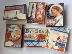 Great By the Sea cards by Dolly LaBelle shared on our Facebook page! #graphic45 #cards