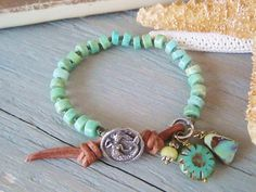 Amazonite mermaid knotted bracelet