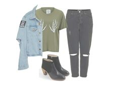 """""""In school :/"""" by unicorncupcakes ❤ liked on Polyvore featuring Topshop, Zoe Karssen and Boden"""