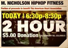 Tonite!!! 2 hr. Portion of proceeds to benefit American Heart Assoc $5.00 donation 2283 Sunbury Rd, columbus ohio Columbus Ohio, Benefit, American, Heart, Fitness, Hearts