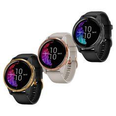 Garmin Venu Watch - 010-02173 Smartwatch, Sunlight, Texts, Track, Advice, Stainless Steel, Bright, Display, Watches