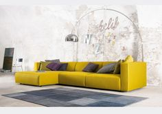Furniture:Bright Yellow Sofa With Sectional Style With Colorful Piloows Match For Sofa Ideas Creative Sofa Designs Ideas - Amazing Models to Decorate Your Home