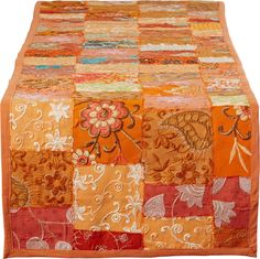 Vizcarra Hand Crafted Cotton and Poly Recyled Sari Table Runner