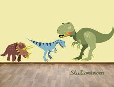 HUGE Dinosaur Wall Decals Reusable Fabric by StudioWallStickers, Just ordered for the twins room! Cant wait till it gets here!