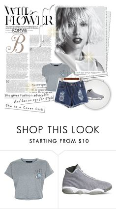 """""""Romwe contest: Blue Denim Shorts"""" by foundation-1 ❤ liked on Polyvore featuring New Look, NIKE, Nivea and romwe"""