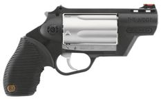"""Taurus introduced the first polymer Judge at the 2010 SHOT Show. Called the """"Public Defender Polymer,"""" this Taurus Judge features a frame entirely made Taurus Judge, Black Powder Guns, Tactical Gear, Firearms, Hand Guns, Public, Lc 2, Survival Stuff, Survival Kit"""