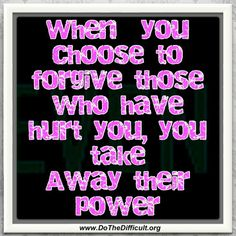 Forgiveness is Power