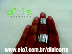 Anel Bandage Prateado Fechado  www.mercado.etc.br/dixiearte