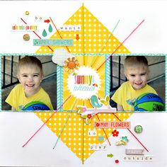 Scrapping with Christine: Echo Park Sunny Days Ahead My Creative Scrapbook Layout