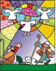 Christmas Drawing, Christmas Art, Drawing For Kids, Art For Kids, Kid Art, Nativity Clipart, Graffiti Painting, Arte Pop, Sacred Art
