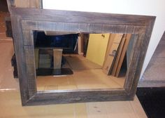 Rustic Pallet Wood Mirror Large by AllieCatCreations8 on Etsy