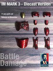 1/6 Battle Damaged/ Clear Armour Fit Hot Toys Diecast Iron Man Mark 3 Figure