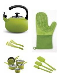 Lime green accessories for your kitchen. #limegrkitchen