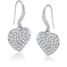 Earrings Drop | Queen of Hearts Crystal | Carolee.com ($32) ❤ liked on Polyvore