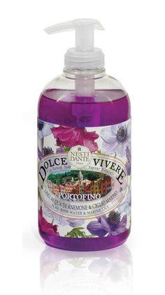 Nesti Dante Firenze Skin care Dolce Vivere Portofino Liquid Soap 500 ml Italian Village, Fragrance Samples, Coming Up Roses, Liquid Soap, Rose Water, Face Wash, Shower Gel, Soap Making, Soap Dispenser