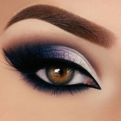 Beautiful Purple Eye Shadow Perfect winged liner long lashes eye makeup