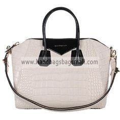 Givenchy Pinky White Antigona Duffel Croc Embossed Leather Tote Bag.  RRP: $1,032.00.  Your Price: $319.99.  (You save $712.01).  Brand: Givenchy.  Givenchy Pinky White Antigona Duffel Croc Embossed Leather Tote Bag detailed physical characteristics and size, so that you can have a more detailed information about it.  http://www.handbagsbagsmall.com/products/Givenchy-Pinky-White-Antigona-Duffel-Croc-Embossed-Leather-Tote-Bag.html