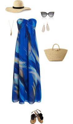 """Maxi Dress Summer"" by sidni-schexnayder on Polyvore. This is super cute to wear walking around shops or the mall or something."
