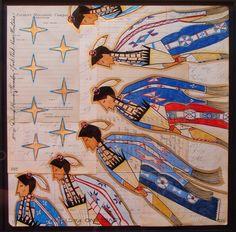 Ledger Art, Darryl Growing Thunder. Fort Peck Reservation Montana