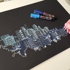 Interesting Find A Career In Architecture Ideas. Admirable Find A Career In Architecture Ideas. Architecture Drawing Art, Architecture Sketchbook, Architecture Today, Lego Architecture, City Drawing, Cityscape Drawing, Cityscape Art, Posca Art, New Pen
