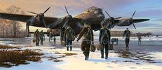 An Evening With Heroes of RAF Bomber Command and Special Operations Air Force Aircraft, Ww2 Aircraft, Angel Flight, Lancaster Bomber, Airplane Art, Ww2 Planes, Royal Air Force, Aviation Art, Military Art
