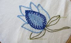 Something new,something fresh today!!  The stitch is the same old chain stitch ,but the usage is a  little different .Earlier I'd used chain...