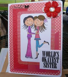 Sister Handmade Birthday Card - World's Okayest Sister