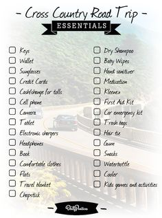 WE'RE GOING ON A ROAD TRIP! We made a list of the most important things you won't want to forget on your next road trip. Be sure to print off this checklist for additional must-haves!