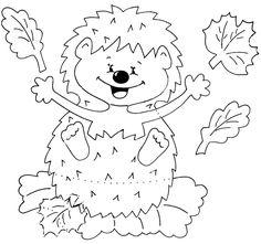 hedgehog | autumn paper craft pattern