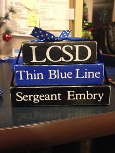 Hey, I found this really awesome Etsy listing at https://www.etsy.com/listing/175722939/thin-blue-line-personalized-blocks: