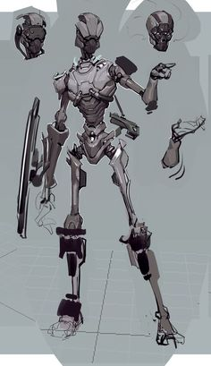 Robot character design scroll to see more cartoon robot character Character Concept, Character Art, Robots Drawing, Space Opera, Robots Characters, Arte Robot, Arte Cyberpunk, Robot Concept Art, Armor Concept