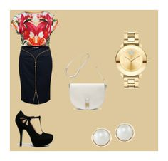 """""""Interview 'Fits"""" by franchezcastyles on Polyvore featuring Ted Baker, Versace, Movado, Qupid, Carolee and Mulberry"""