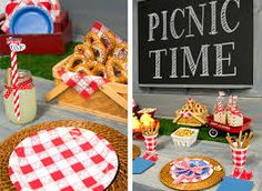 Picnic - Red & White Gingham Birthday Party Ideas - Google Search