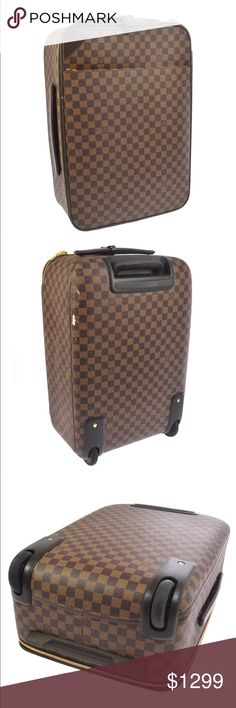 52d79d81f6e7 Louis Vuitton Pegase 50 Damier Ebene Carry On OUTSIDE  B There is sign of  use