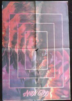Original Wall Decor Bollywood magazine sun Filmy Poster unframed Andy Gibb 1980 #SunMagazine #Vintage