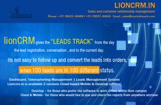 Lion CRM is a #cloud #based #management #software used to monitor and analyze the team #sales activities in real time. #telemarketing #lead #management#software Marketing Software, Business Marketing, Lead Management, Customer Relationship Management, Cloud Based, Monitor, Lion, Clouds, Activities