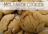 Soft Molasses Cookies go perfect with a big glass of milk!