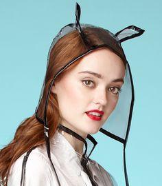 so perfect for my anti rain hair   Peek-A-Boo Rain Cat Cap